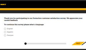 Foot Action Customer Satisfaction Survey