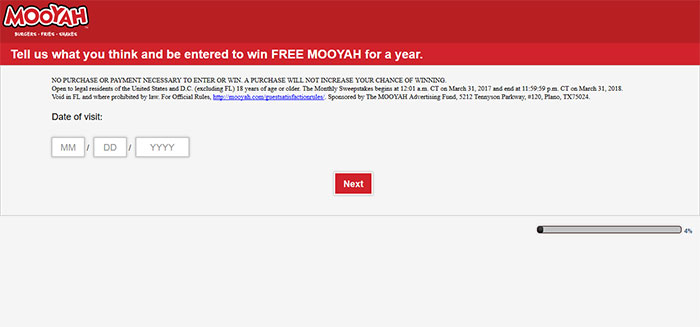 Mooyah Customer Survey