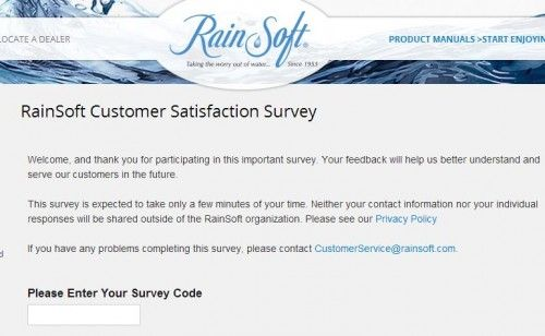 RainSoft Customer Satisfaction Survey