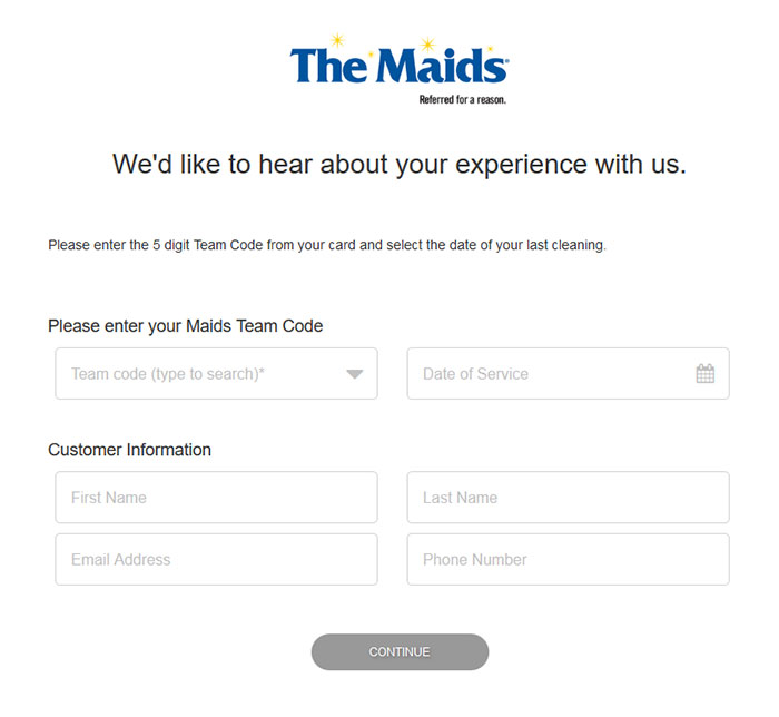 The Maids Feedback Survey
