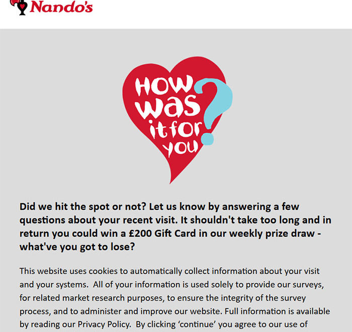 Nando's Customer Satisfaction Survey