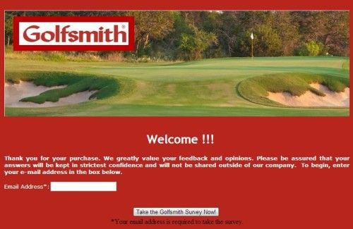 Golfsmith Retail Customer Satisfaction Survey