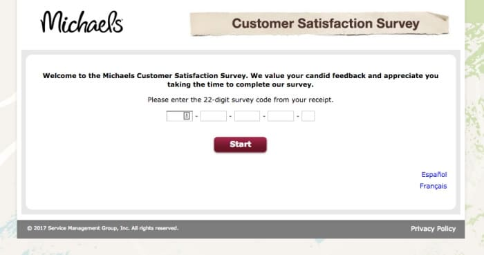 Michaels Customer Experience Survey