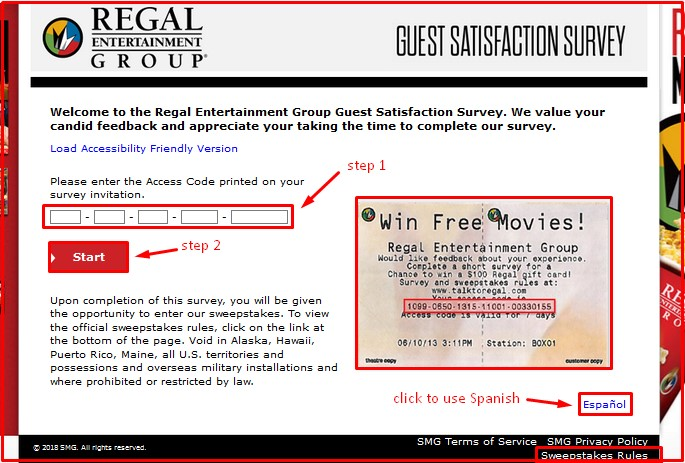 Regal Entertainment Group Guest Survey