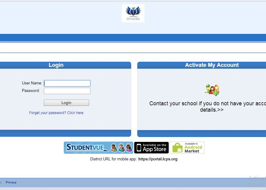 LCPS StudentVUE Login
