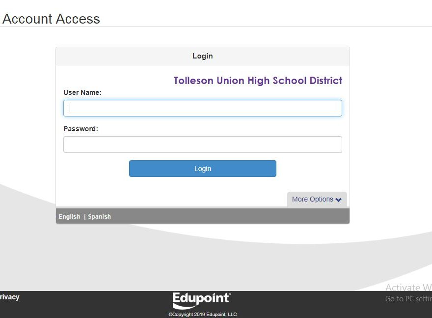 TUHSD StudentVUE login