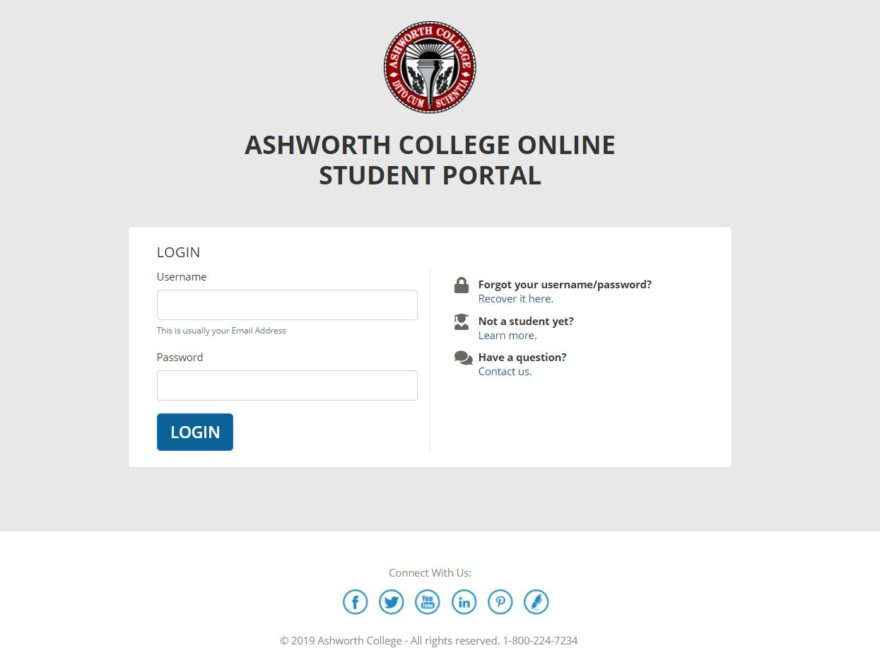 Ashworth College Student Portal Login