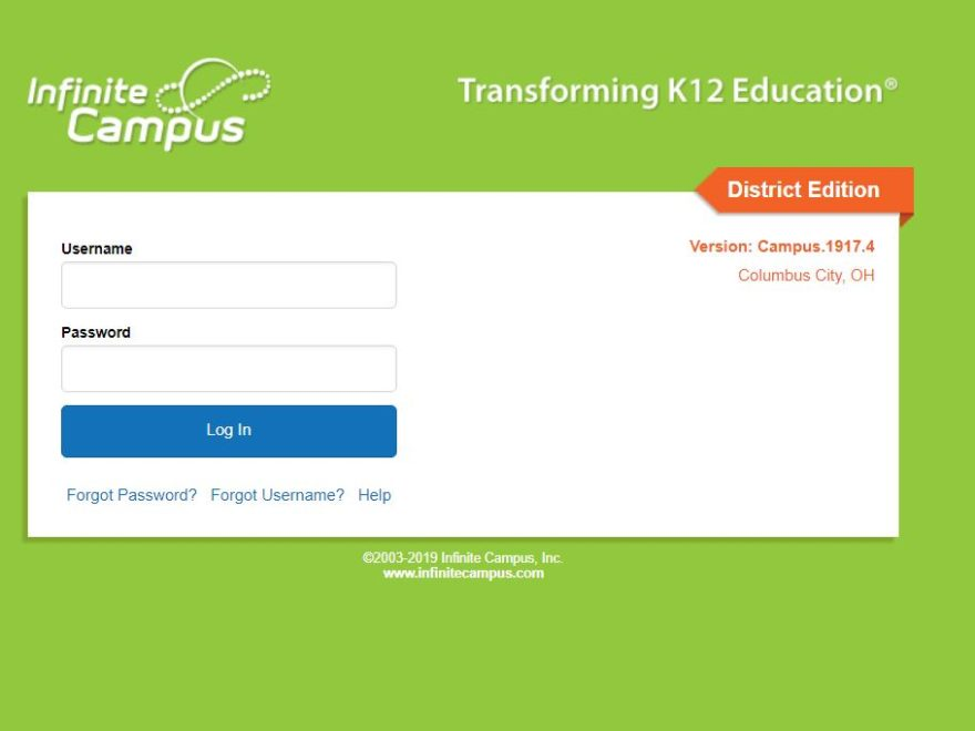 CCS Infinite Campus Student Login
