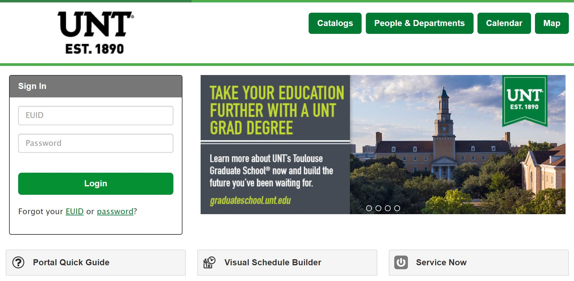 My UNT Login