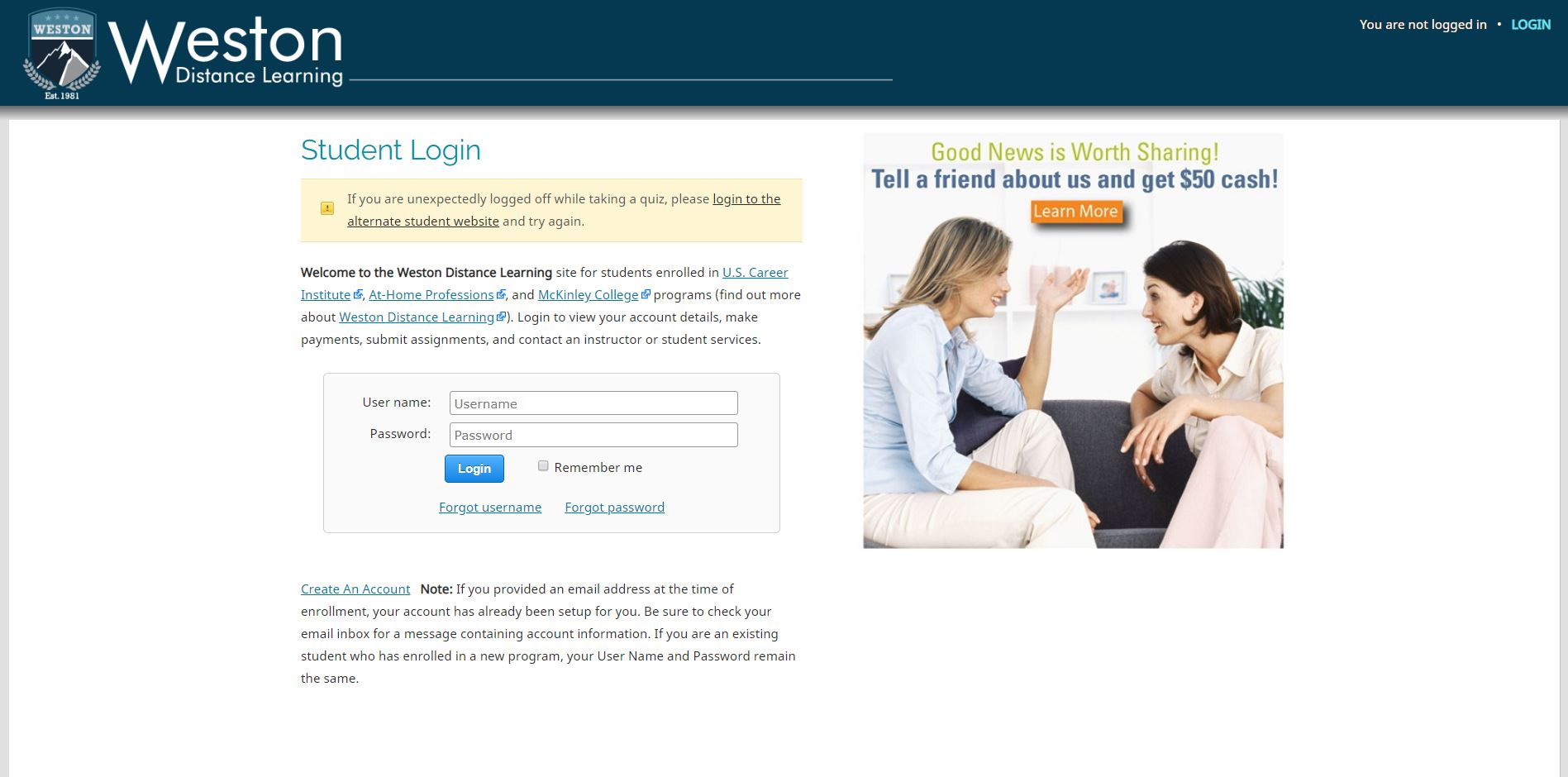 US Career Institute Student Login